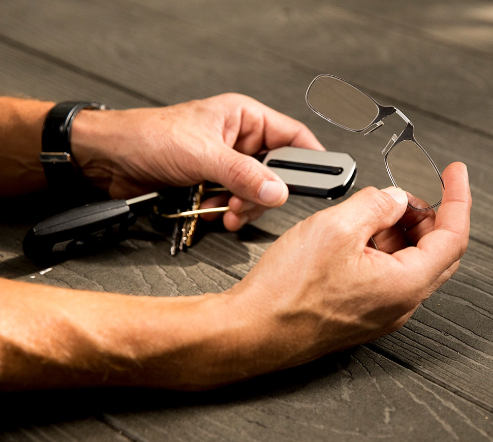 Thinoptics Reader + Keychain Case brings crisp vision and Always With You convenience to every set of keys you own!
