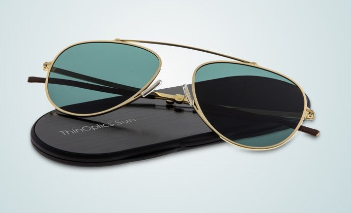 ThinOptics Suns look attractive when wearing and easily disappear in your pocket when you don't need them